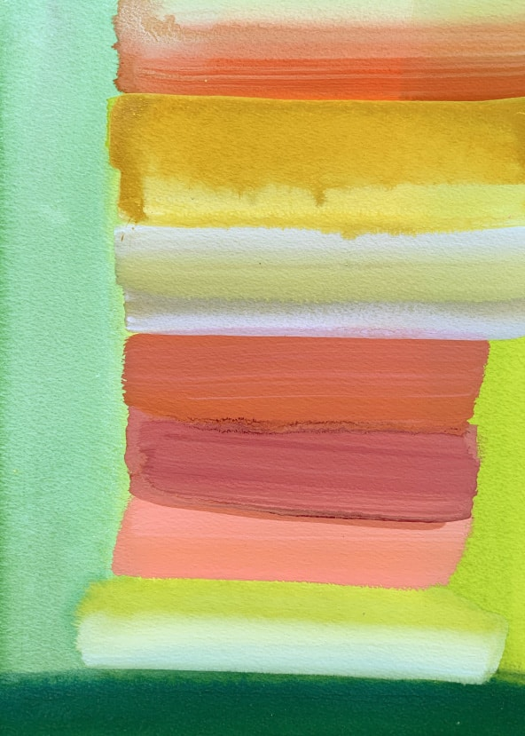 Outdoor Painting with Yellow and Green